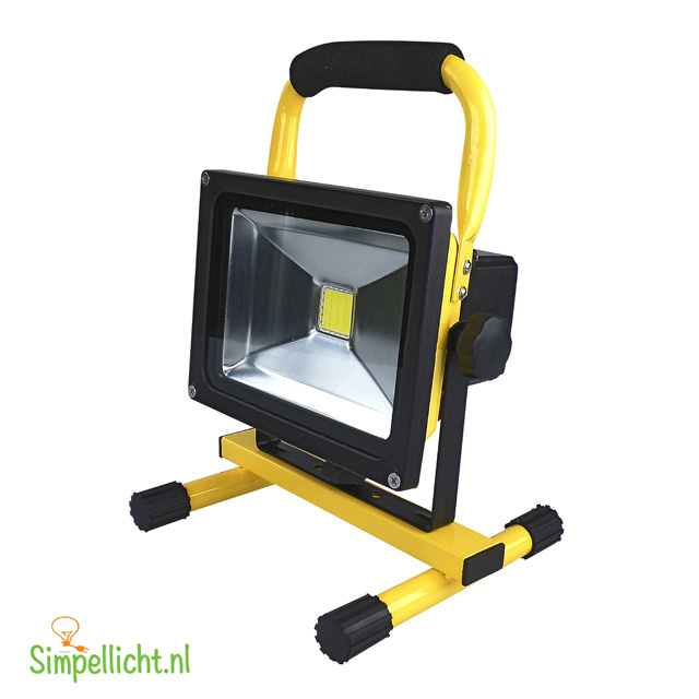 accu led bouwlamp, werklamp, led straler, 20 watt