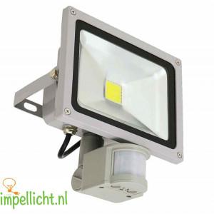 LED, led bouuwlamp, sensor, bouwlamp met sensor, 20 watt, 3000 K, IP44