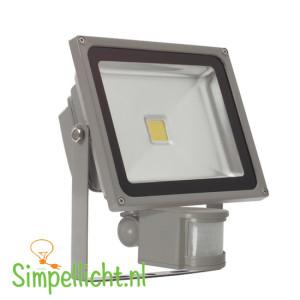 led, led bouwlamp, sensor, bouwlamp met sensor, 30 watt, IP44, grijs